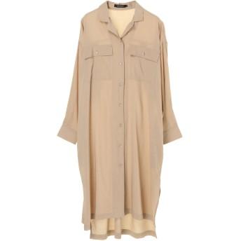 【5,000円以上お買物で送料無料】開襟衿フロントボタンシャツワンピース