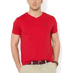(ポロ ラルフローレン) POLO RALPH LAUREN ボーイズ 半袖 Vネック Tシャツ ポロプレイヤー 赤 レッド XL(USボーイズサイズ) [323674983001] [並行輸入品]