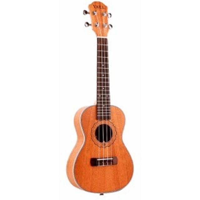 4弦 アコースティック ギター 初心者 高品質 guitar ウッド ハワイアン 楽器 弾きやすい カラ Wood Sapele