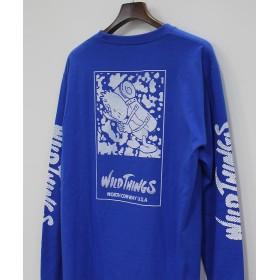 ビーバー WILDTHINGS × GASIUS FABRICK/ワイルドシングス × ガシアス ファブリック L/S TEE ロングスリーブT メンズ BLUE L 【BEAVER】
