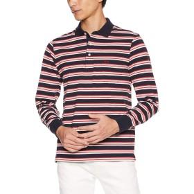 (マックレガー) McGREGOR レジメンタル カラー 鹿の子 ポロシャツ ネイビー L