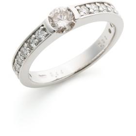 【76%OFF】PT900 ダイヤモンド ハーフエタニティ リング プラチナ 14