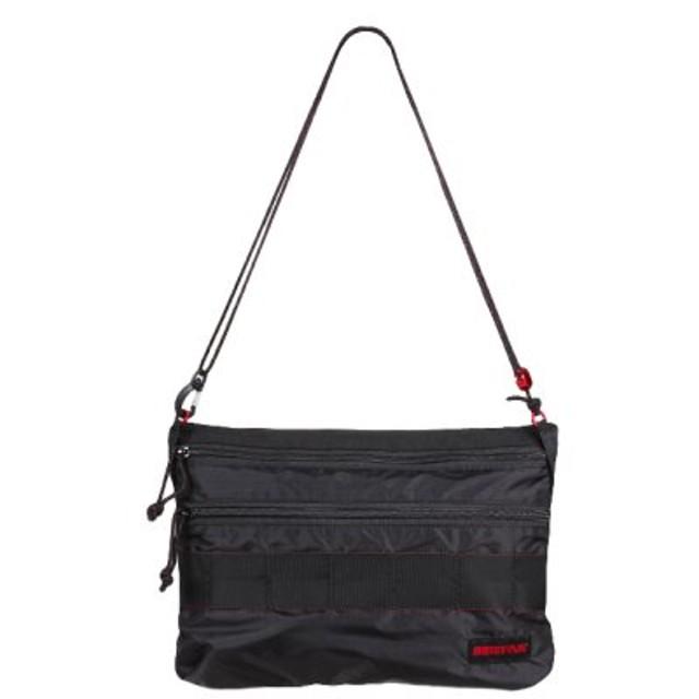 (Bag & Luggage SELECTION/カバンのセレクション)ショルダーバッグ サコッシュ 軽量 ブリーフィング ソリッドライト パッカブル 折り畳み BRIEFING SOLID LIGHT BRM181205/ユニセックス ブラック 送料無料
