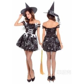 悪魔 コスプレ 巫女 魔女 ハロウィン衣装 魔女風 ウィッチガール レディース 小悪魔 デビル コスチューム 仮装 パーティーグッズ