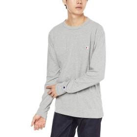 [チャンピオン] ワンポイントロゴ ロングスリーブTシャツ ベーシック C3-P401 メンズ オックスフォードグレー 日本 XL (日本サイズXL相当)