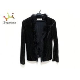 ピンキー&ダイアン ジャケット サイズ38 M レディース 美品 黒 ラメ/フェイクファー 新着 20190730【人気】
