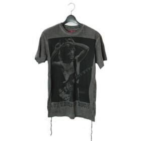 House of the Gods ハウス オブ ザ ゴッド メンズ ロック ミュージシャン クルーネック 半袖 Tシャツ トップス AC/DC T-SHIRT (グレー(DARK GREY), M)
