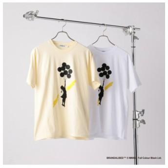 (Men's Bigi/メンズビギ)『Banksy & Jerusalem Balloon Girl+design』プリントTシャツ/メンズ イエロー