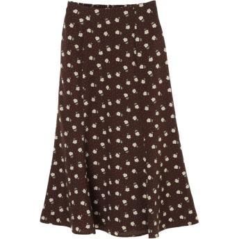 【5,000円以上お買物で送料無料】SLW レトロ花柄マーメイドスカート