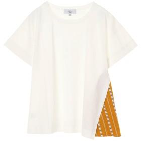 Harriss Harriss/ハリス プレミアムコットン切り替えカットソー Tシャツ・カットソー,オフホワイト