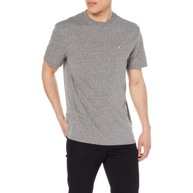 トミージーンズTjmリンガーティーTシャツ、ブラック(トミーブラック078)、Lマン