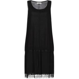 《期間限定セール開催中!》TWINSET UNDERWEAR レディース ミニワンピース&ドレス ブラック L コットン 100% / ポリエステル