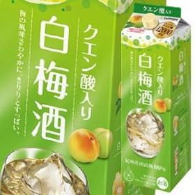 【送料無料】サッポロ クエン酸入り白梅酒1.8L紙パック×1ケース(全6本)