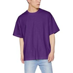 [ウィゴー] WEGO ヘビー スラブ ビッグ T シャツ 半袖 XL パープル メンズ