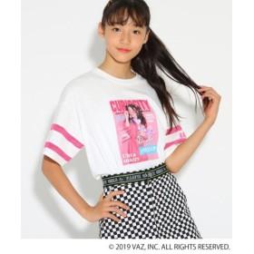 (PINK latte (Teen)/ピンク ラテ(ティーン))【しなこコラボ】Tシャツ/レディース オフホワイト(003)