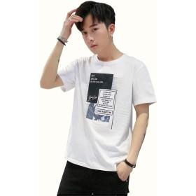 GXWSRY Tシャツ メンズ 半袖 Tシャツ カットソー tシャツ五分袖 夏服 ファッション 速乾 無地 吸汗速乾 軽い 柔らかい カジュアル 夏季対応 tシャツ メンズ スポーツメンズ tシャツ