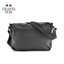 TRAVEL FOX 旅狐  尼龍單肩車縫感斜背包 (TB597-01) 黑色