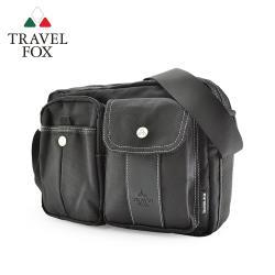 TRAVEL FOX 旅狐 輕量多功能雙層多口袋尼龍包 (TB573-01) 黑色