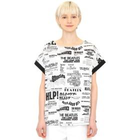 (グラニフ) graniph ザ ビートルズ コラボ バックボタン レディースTシャツ メニー タイトル (ザ ビートルズ) (ホワイト) レディース Lady(F) (g14)