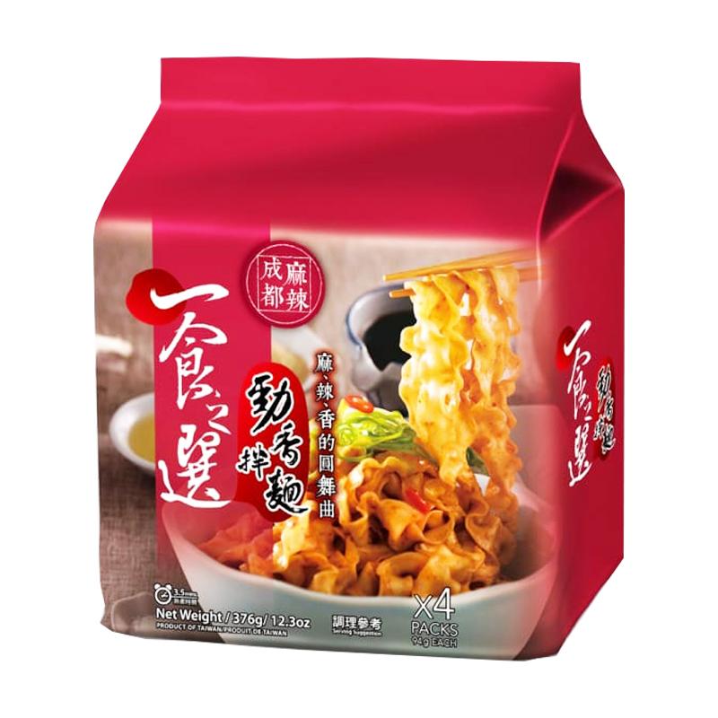 【安心價】一食之選乾拌麵-成都麻辣376g