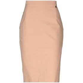 《期間限定 セール開催中》ELISABETTA FRANCHI 24 ORE レディース ひざ丈スカート キャメル 46 ナイロン 50% / コットン 42% / ポリウレタン 8%