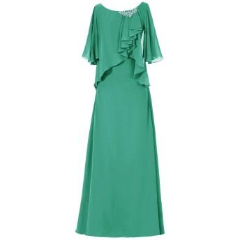 Dresstell(ドレステル) 結婚式 フォーマルドレス ドルマンスリーブ シフォン ビジュー付き ママのタイプ レディース グリーン 11号