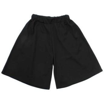 (NEXT WALL/ネクストウォール)キッズ 子供服 ガウチョパンツ ハーフパンツ 半ズボン 女の子 ガールズ ジュニア/レディース ブラック