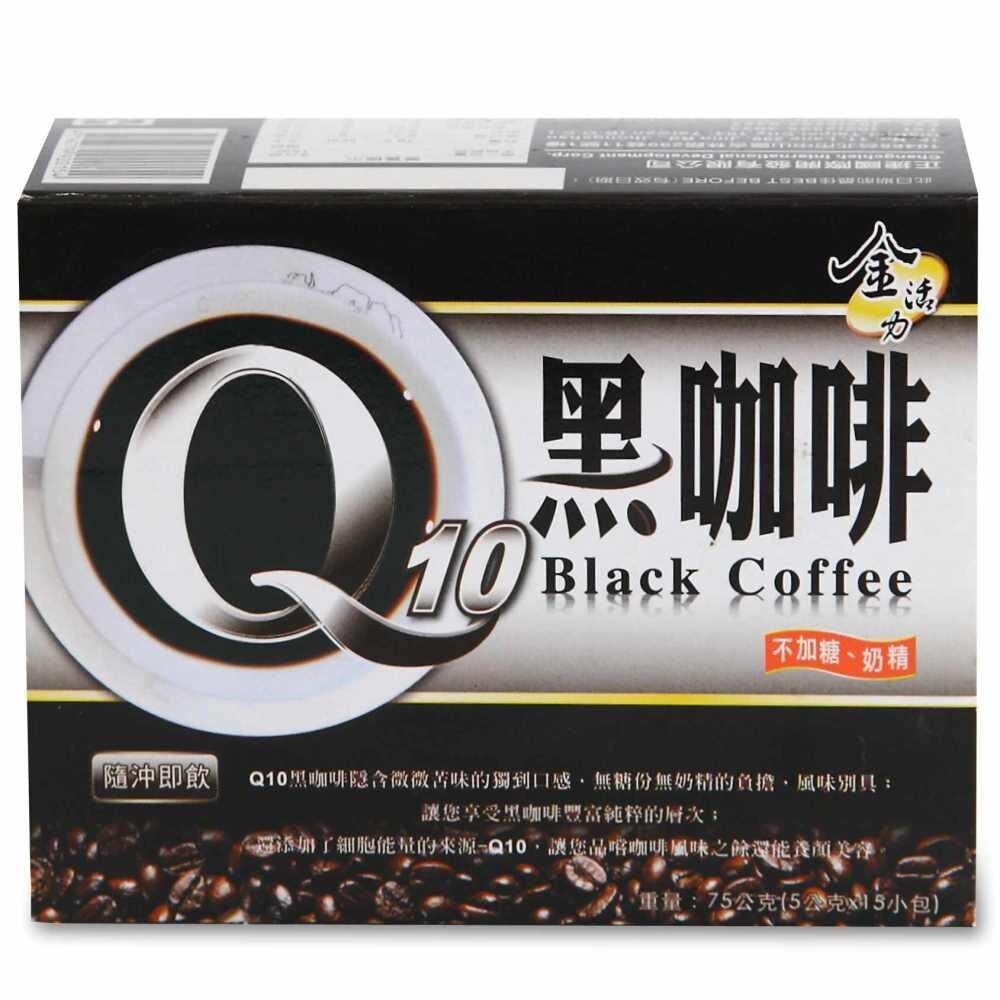 啡茶不可q10黑咖啡(5gx15入/盒)無糖無奶精即溶研磨咖啡的口感