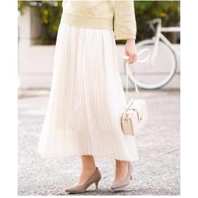 (アーヴェヴェ) a.v.v ビンテージサテンプリーツスカート[WEB限定サイズ] K2HGG19049 34 ホワイト