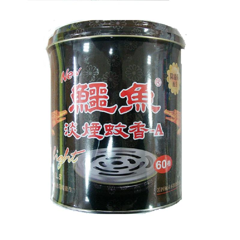 鱷魚淡煙蚊香-60卷鐵罐