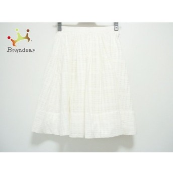 グレースコンチネンタル GRACE CONTINENTAL スカート サイズ36 S レディース 白 チェック柄 新着 20190730