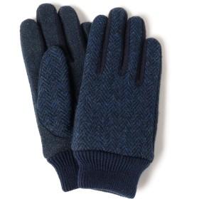 (ビームス)BEAMS/グローブ・手袋/ハリスツイード ジャージ グローブ(タッチパネル対応) メンズ NVYBLK H/B ONE SIZE