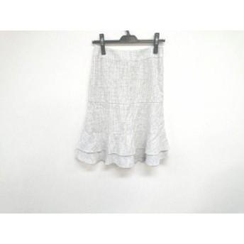 トゥービーシック TO BE CHIC スカート サイズ40 M レディース 美品 白×黒 ラメ【中古】20190726