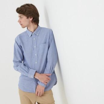 AIGLE メンズ ブルーグリ (073) シャツ・ポロシャツ