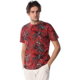 (エトロ) ETRO 綿100% ボタニカル クルーネック 半袖 Tシャツ RED [ET1Y0204160]レッド/M [並行輸入品]
