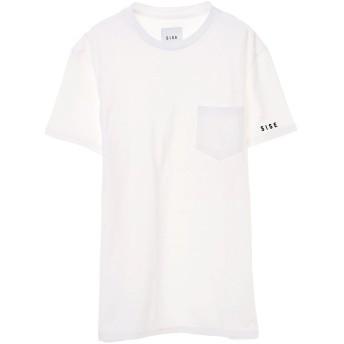 SISE SISE / シセ LETTER T-SHIRT Tシャツ・カットソー,WHITE