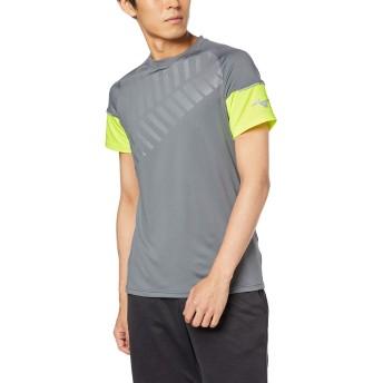 [ミズノ] テニスウェア ゲームシャツ 半袖 吸汗速乾 ドライ ストレッチ 部活 練習 試合 ソフトテニス バドミントン認定 男女兼用 62JA8021 キャッスルロック S