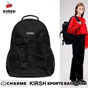 KIRSH リュック 韓国 リュックサック バックパック レディース メンズ 大容量 軽量 大人可愛い 通学 おしゃれ 大人 可愛い キャンバス シンプル 高校生 女子 男子 通勤 黒 ブラック