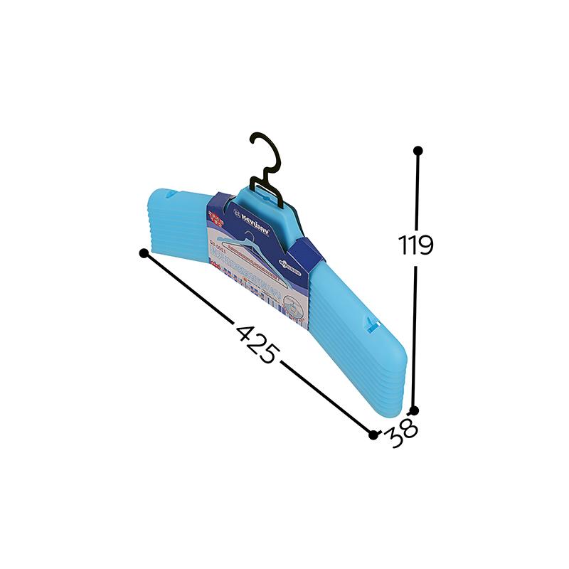 藍天鐵線衣架升級套-顏色隨機出貨