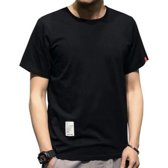 Kawayo Tシャツ メンズ 半袖 カジュアル tシャツ カットTシャツ 無地 丸首 おしゃれスポーツtシャツ 綿 シンプル 夏トップス 通勤 通学k-3XL