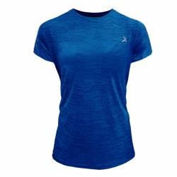 EGXtech女單導排汗短袖(ET2W麻藍色)+藝佽芫涼感巾(S)