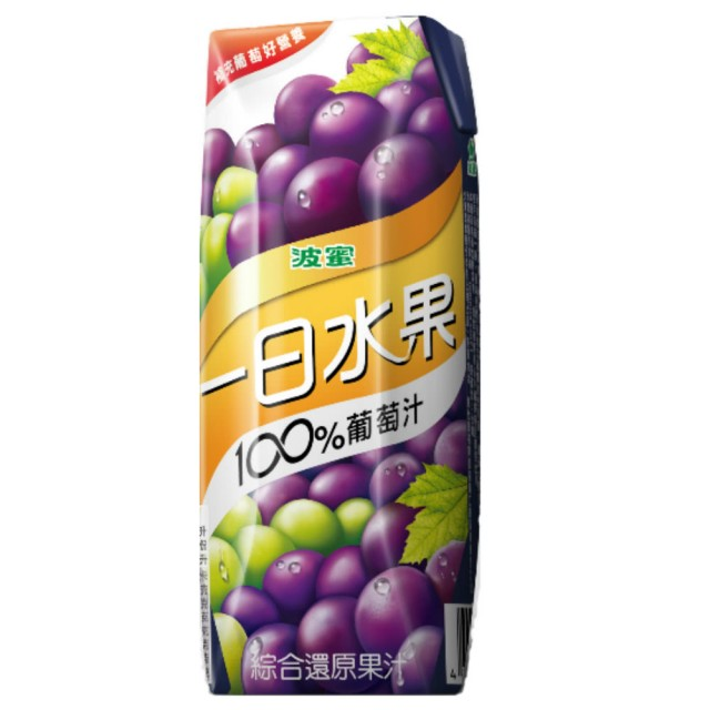 波蜜一日水果100葡萄綜合果汁250ml
