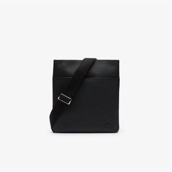 ラコステ MEN'S CLASSIC エンボスPVCスクエアバッグ メンズ ブラック FREE 【LACOSTE】