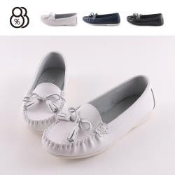 【88%】休閒鞋-MIT台灣製 皮質鞋面 流蘇蝴蝶結 純色百搭 莫卡辛鞋 平底包鞋 OL通勤鞋