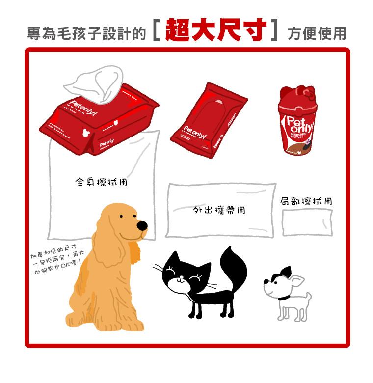 【寵物用品】蹦蹦跳無香寵物濕紙巾隨身包