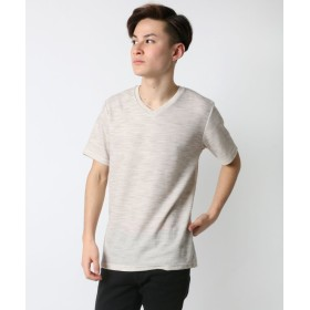 【53%OFF】 ラザル プラチナ・プロテクト(抗菌防臭) 杢サーマルVネックTシャツ メンズ オフホワイト XL 【LAZAR】 【セール開催中】