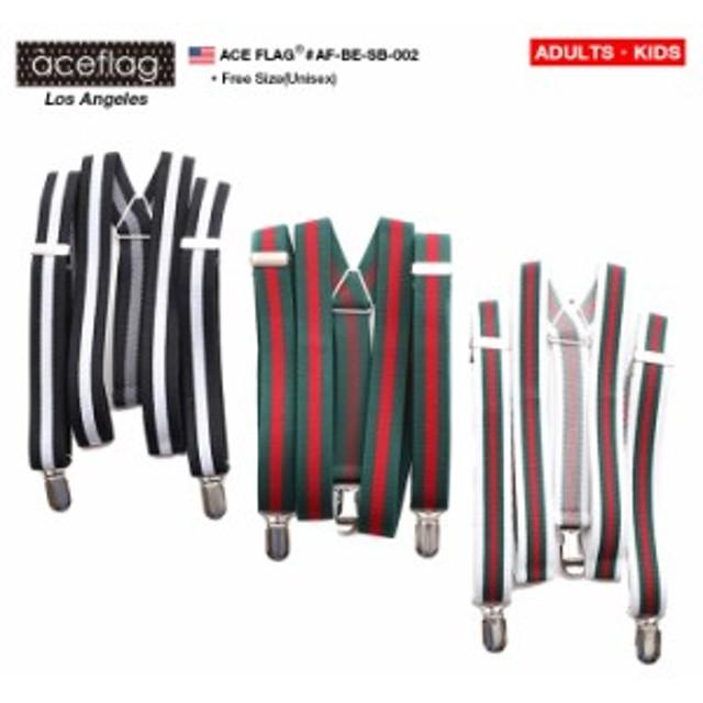 b系 ヒップホップ ストリート系 ファッション メンズ レディース ベルト 【AF-BE-SB-002】 エースフラッグ ACEFLAG サスペンダー 吊りバ