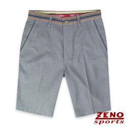ZENO 彈力透氣天絲假腰帶設計短褲‧灰色