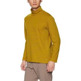 [Mizuno] アウトドアウェア ブレスサーモ ボーダーハイネックシャツ A2MA8540 メンズ ゴールデンパーム 日本 S (日本サイズS相当)
