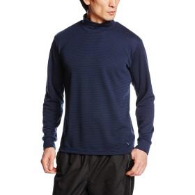 (ミズノ)MIZUNO アウトドアウエア ブレスサーモ ミニボーダー ハイネックシャツ [メンズ] A2JA6539 14 ドレスネイビー XL